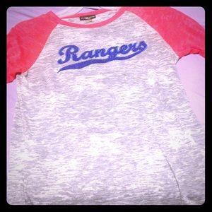 Rangers baseball tee
